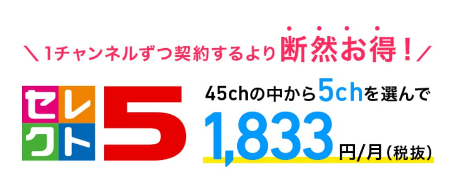 スカパー!セレクト5とは?料金・見られるチャンネル・評判・加入方法まとめ!