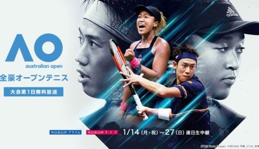 【2019年版】全豪オープンテニスを見る方法・放送予定と試合日程・みどころ・優勝候補まとめ!WOWOWで生中継あり!